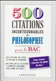500 CITATIONS INCONTOURNABLES DE PHILOSOPHIE